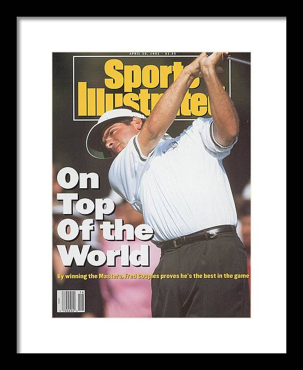 Magazine Cover Framed Print featuring the photograph Fred Couples, 1992 Masters Sports Illustrated Cover by Sports Illustrated