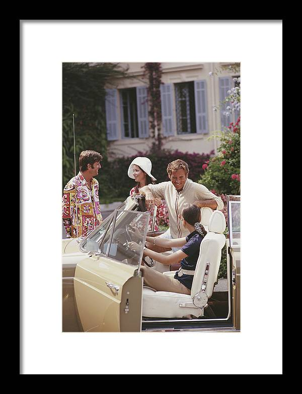 People Framed Print featuring the photograph French Holiday by Slim Aarons