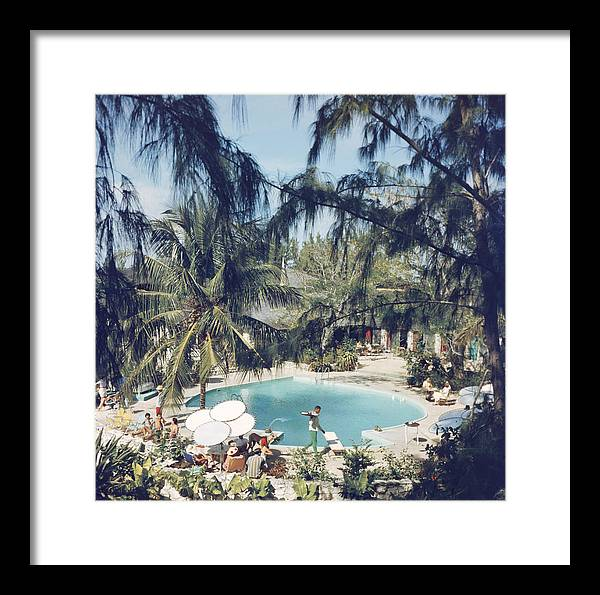 People Framed Print featuring the photograph French Leave Hotel by Slim Aarons