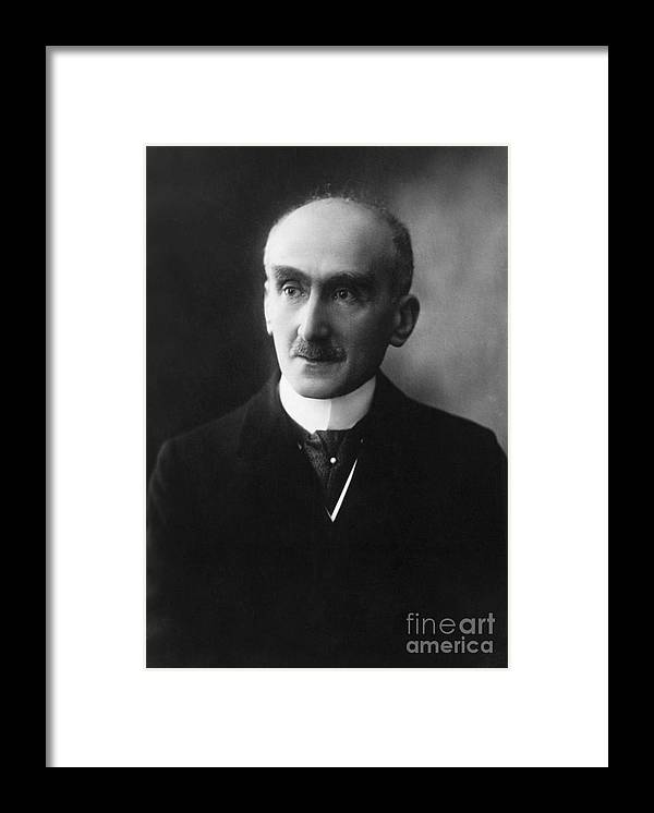 Mature Adult Framed Print featuring the photograph French Philosopher Henri-louis Bergson by Bettmann