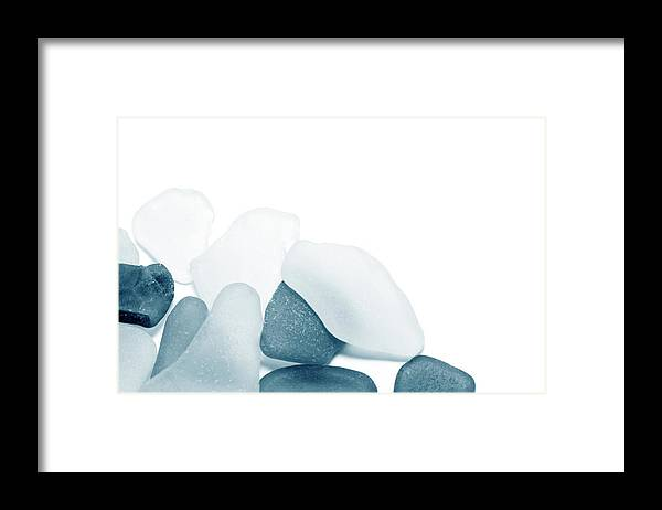 Cool Attitude Framed Print featuring the photograph Fresh Glass Stones by Caracterdesign