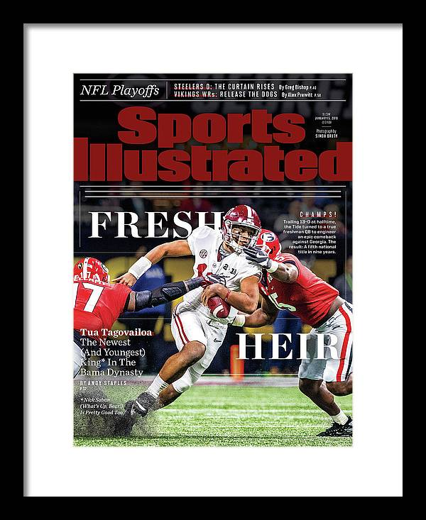 Atlanta Framed Print featuring the photograph Fresh Heir Tua Tagovailoa, The Newest And Youngest King* In Sports Illustrated Cover by Sports Illustrated