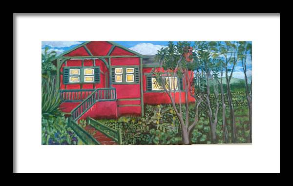 Painting Of House Framed Print featuring the painting Fresh yard by Andrew Johnson