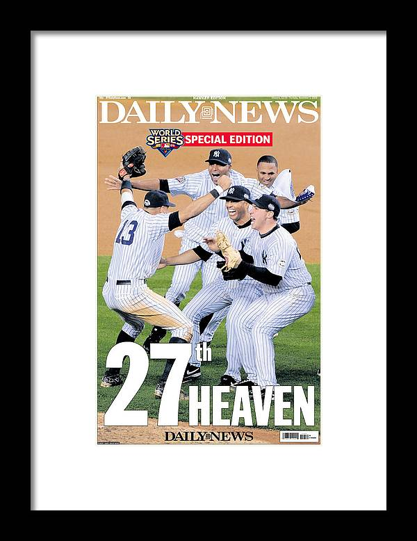 Celebration Framed Print featuring the photograph Front Page Wrap Of The Daily News by New York Daily News Archive