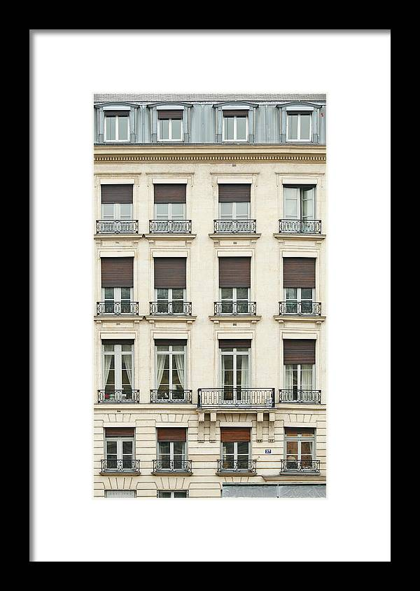 Apartment Framed Print featuring the photograph Front View Of Paris Architecture by S. Greg Panosian