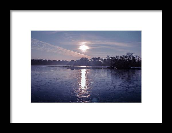 Lake Framed Print featuring the photograph Frozen by Claire Lowe