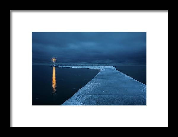 Tranquility Framed Print featuring the photograph Frozen Path by John Fan Photography