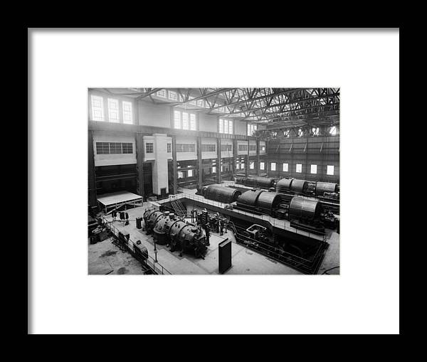 1930-1939 Framed Print featuring the photograph Fulham Power Station by Fox Photos