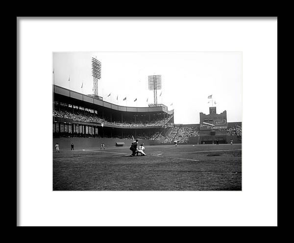 Sport Framed Print featuring the photograph Game Two Of Playoffs Between Brooklyn by New York Daily News Archive