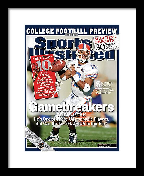 Magazine Cover Framed Print featuring the photograph Gamebreakers Chris Leak, Hes One Of Those Unstoppable Sports Illustrated Cover by Sports Illustrated