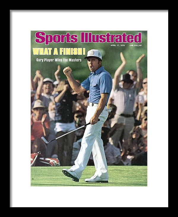 Magazine Cover Framed Print featuring the photograph Gary Player, 1978 Masters Sports Illustrated Cover by Sports Illustrated