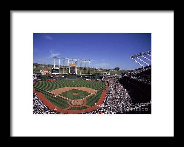American League Baseball Framed Print featuring the photograph General View by Matthew Stockman