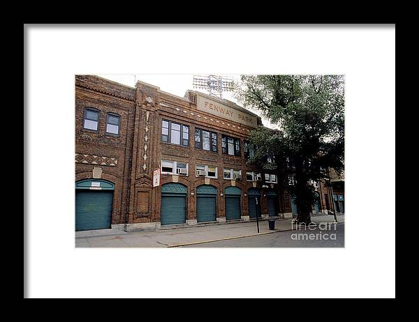 American League Baseball Framed Print featuring the photograph General View Of Outside Fenway Park by Rick Stewart