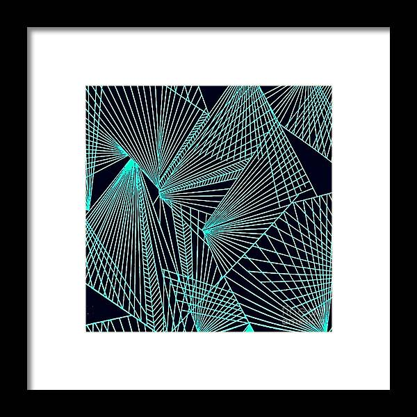 Geometric Patterns Framed Print featuring the painting Geometric pattern 1-colour-10 by Katerina Stamatelos