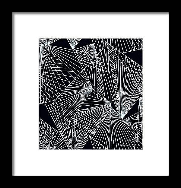 Geometric Patterns Framed Print featuring the painting Geometric Pattern-1-colour-3 by Katerina Stamatelos