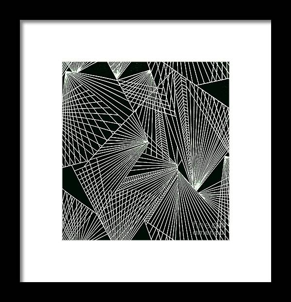 Geometric Patterns Framed Print featuring the painting Geometric pattern 1-colour-4 by Katerina Stamatelos