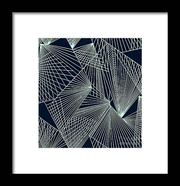 Geometric Patterns Framed Print featuring the painting Geometric pattern 1-colour-6 by Katerina Stamatelos
