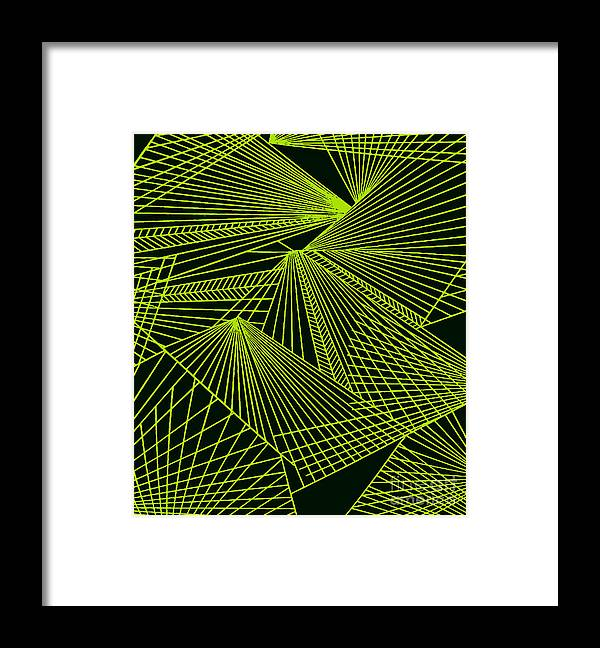 Geometric Patterns Framed Print featuring the painting Geometric pattern 1-colour-9 by Katerina Stamatelos