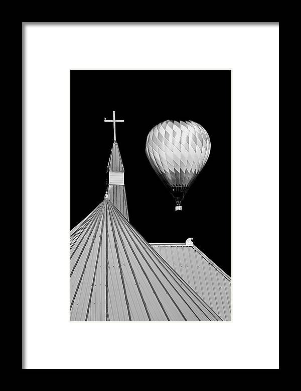 Geometric Framed Print featuring the photograph Geometric Patterns at Balloon Fest by Zayne Diamond Photographic
