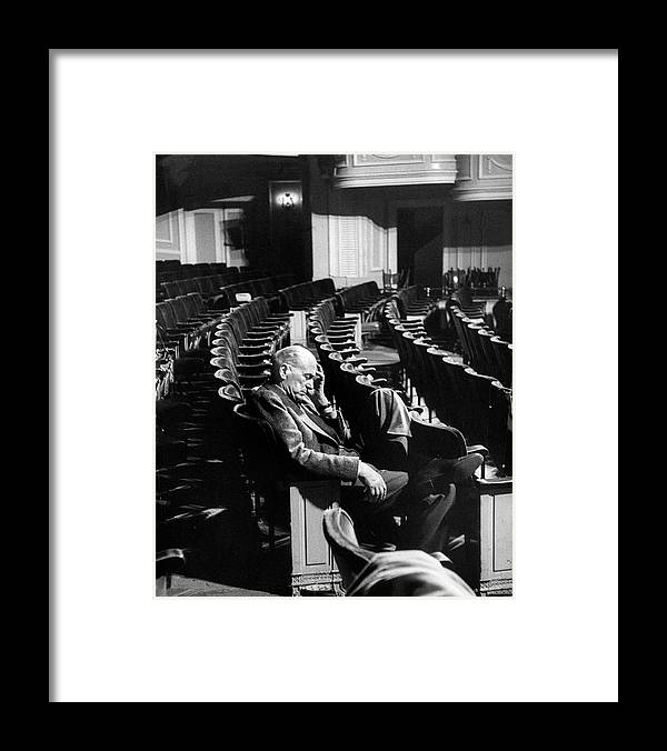 Timeincown Framed Print featuring the photograph George Abbott by Peter Stackpole