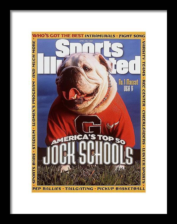 Magazine Cover Framed Print featuring the photograph Georgia Bulldogs Mascot Uga V Sports Illustrated Cover by Sports Illustrated
