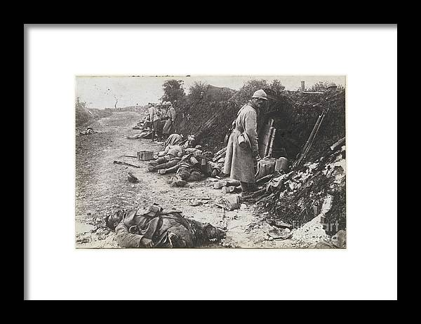 People Framed Print featuring the photograph German And French Casualties by Bettmann