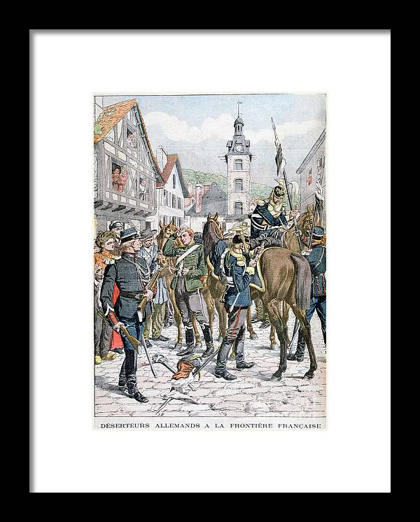 Horse Framed Print featuring the drawing German Deserters At The French by Print Collector