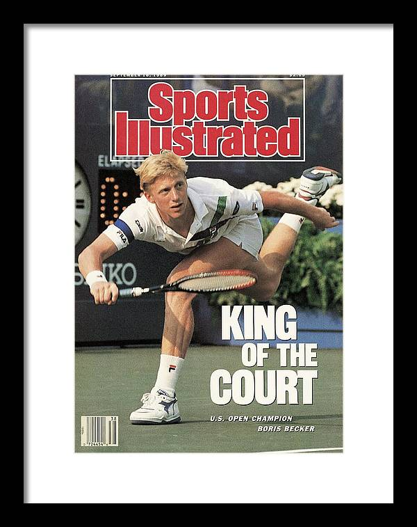 1980-1989 Framed Print featuring the photograph Germany Boris Becker, 1989 Us Open Sports Illustrated Cover by Sports Illustrated