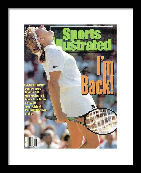 Magazine Cover Framed Print featuring the photograph Germany Steffi Graf, 1991 Wimbledon Sports Illustrated Cover by Sports Illustrated