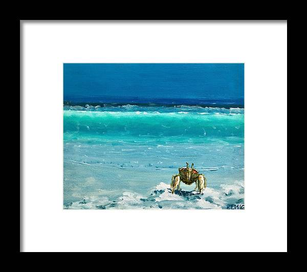 Ghost Crab Framed Print featuring the painting Ghost Crab by Paul Emig