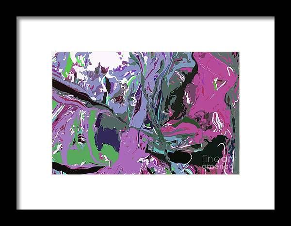 Vectored Painting Framed Print featuring the painting Ghosting by Karen Elzinga