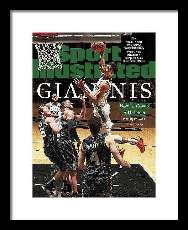 Magazine Cover Framed Print featuring the photograph Giannis How To Coach A Unicorn Sports Illustrated Cover by Sports Illustrated