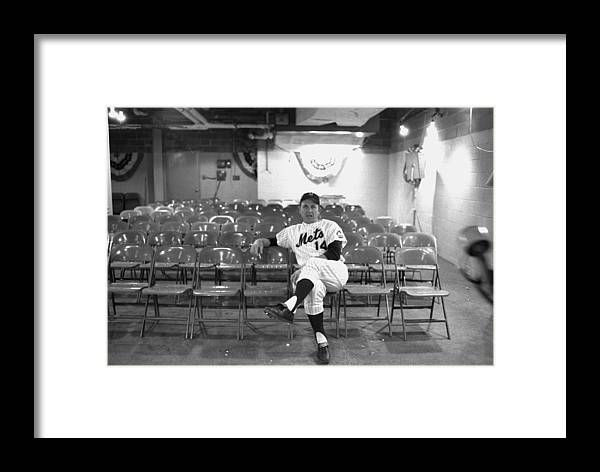 American League Baseball Framed Print featuring the photograph Gil Hodges Of The 1969 New York Mets by New York Daily News Archive