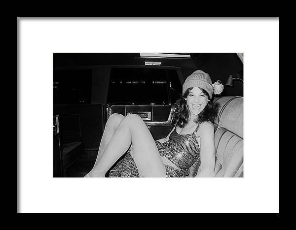 Sequin Framed Print featuring the photograph Gilda Radner by Art Zelin