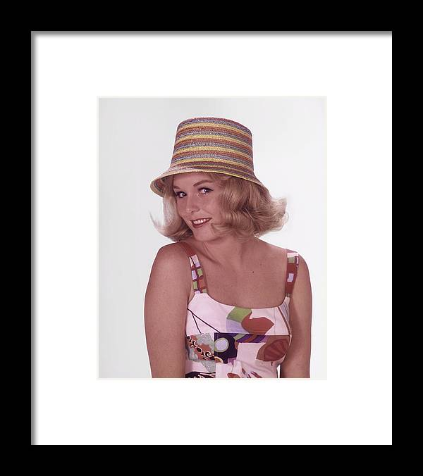 California Framed Print featuring the photograph Girl In Vintage Hat by Tom Kelley Archive