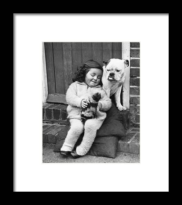 Pets Framed Print featuring the photograph Girls Best Friend by Fox Photos