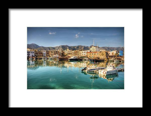 Tranquility Framed Print featuring the photograph Girne Kyrenia , North Cyprus by Nejdetduzen