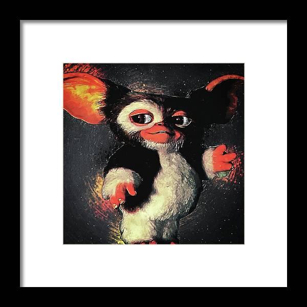 Gizmo Framed Print featuring the digital art Gizmo by Zapista Zapista