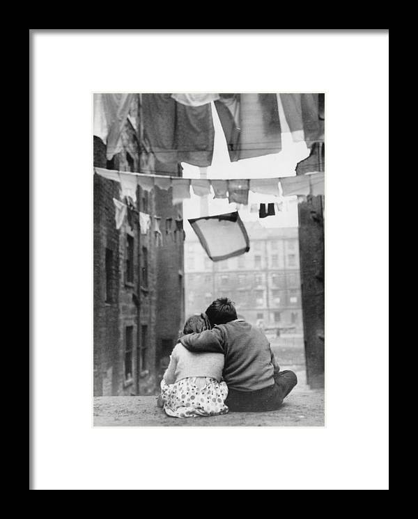 Child Framed Print featuring the photograph Glasgow Romance by Keystone