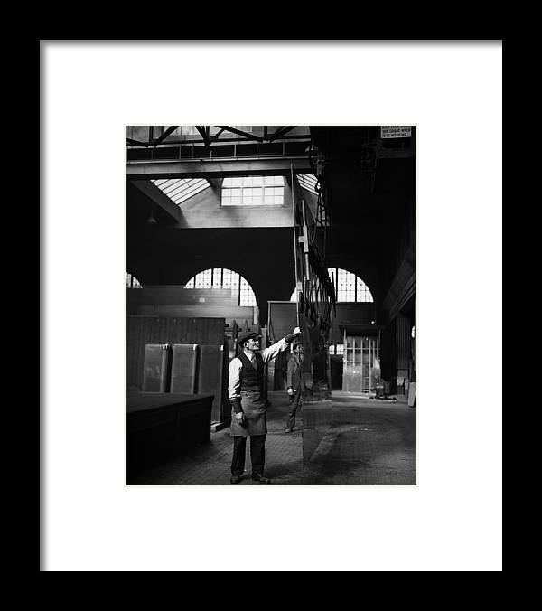 East Framed Print featuring the photograph Glass Factory by Fox Photos