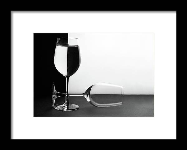 Alcohol Framed Print featuring the photograph Glasses by Photo By Bhaskar Dutta