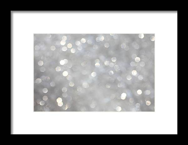 Holiday Framed Print featuring the photograph Glittery Background by Merrymoonmary