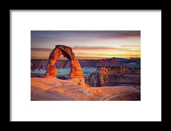 Scenics Framed Print featuring the photograph Glowing Arch by Mark Brodkin Photography