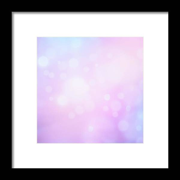 Holiday Framed Print featuring the photograph Glowing Blue And Pink Abstract by Jeja