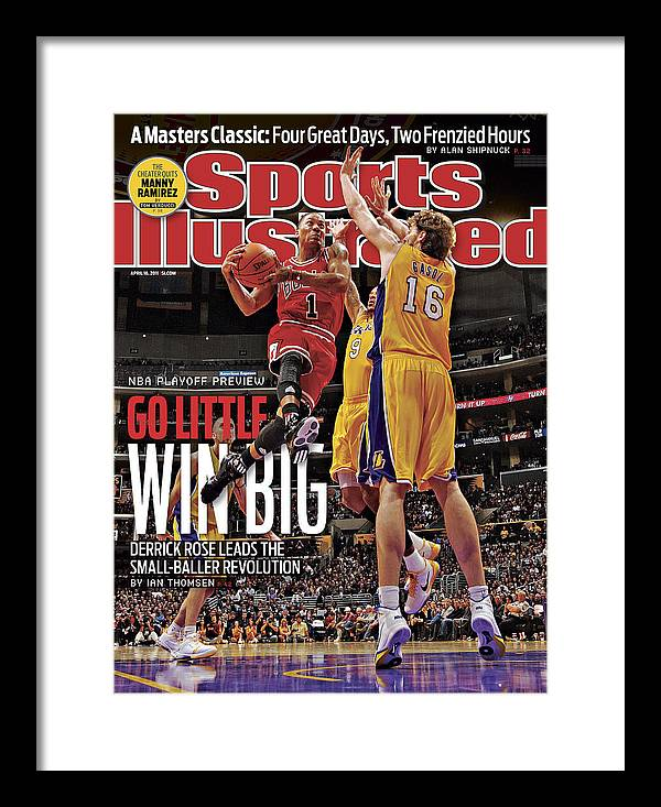 Chicago Bulls Framed Print featuring the photograph Go Little, Win Bing 2011 Nba Playoff Preview Issue Sports Illustrated Cover by Sports Illustrated