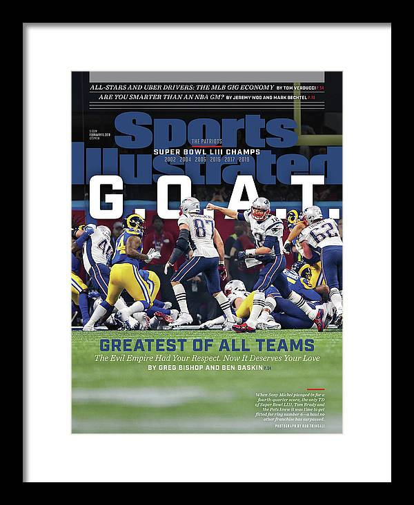 Atlanta Framed Print featuring the photograph G.o.a.t Greatest Of All Teams Sports Illustrated Cover by Sports Illustrated