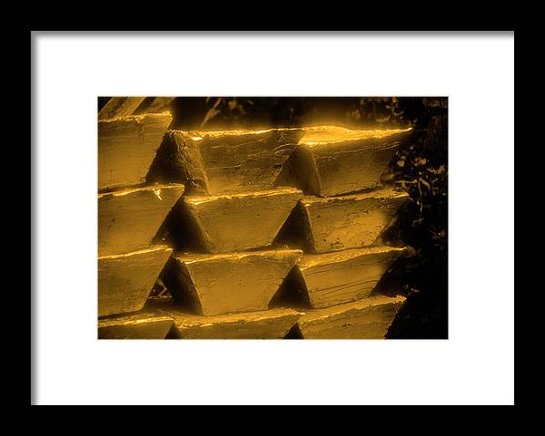 1980-1989 Framed Print featuring the photograph Gold Bullion Bars by Lyle Leduc