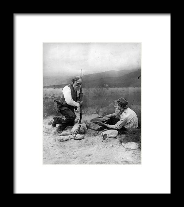 1850-1859 Framed Print featuring the photograph Gold Prospectors by General Photographic Agency