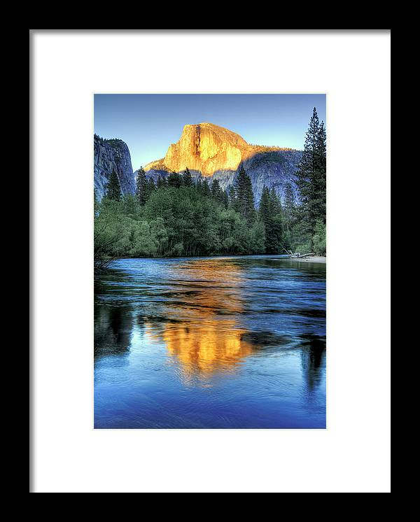 Scenics Framed Print featuring the photograph Golden Light On Half Dome by Mimi Ditchie Photography