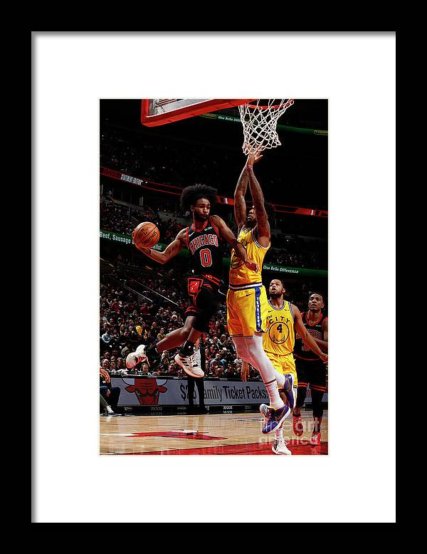 Chicago Bulls Framed Print featuring the photograph Golden State Warriors V Chicago Bulls by Jeff Haynes